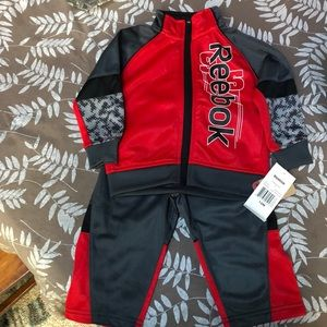 NWT- baby Reebok warm suit set